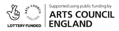 Lottery Funding and Arts Council England logo