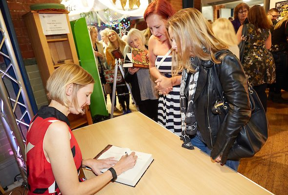 Tracy Borman signs books for fans