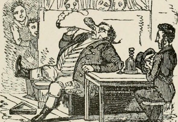 George Cruikshank illustration of a gin drinker