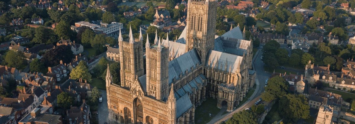Lincoln Cathedral overhead view